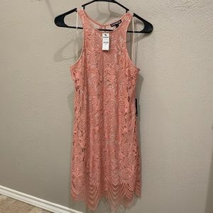 Express Coral Lace Dress Size S